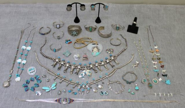 JEWELRY. Large Grouping of Southwest SilverJewelry.