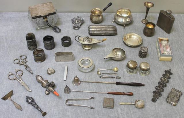 STERLING. Large Miscellaneous Grouping of