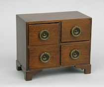 257. A Salesman's Sample Chest of Drawers  A