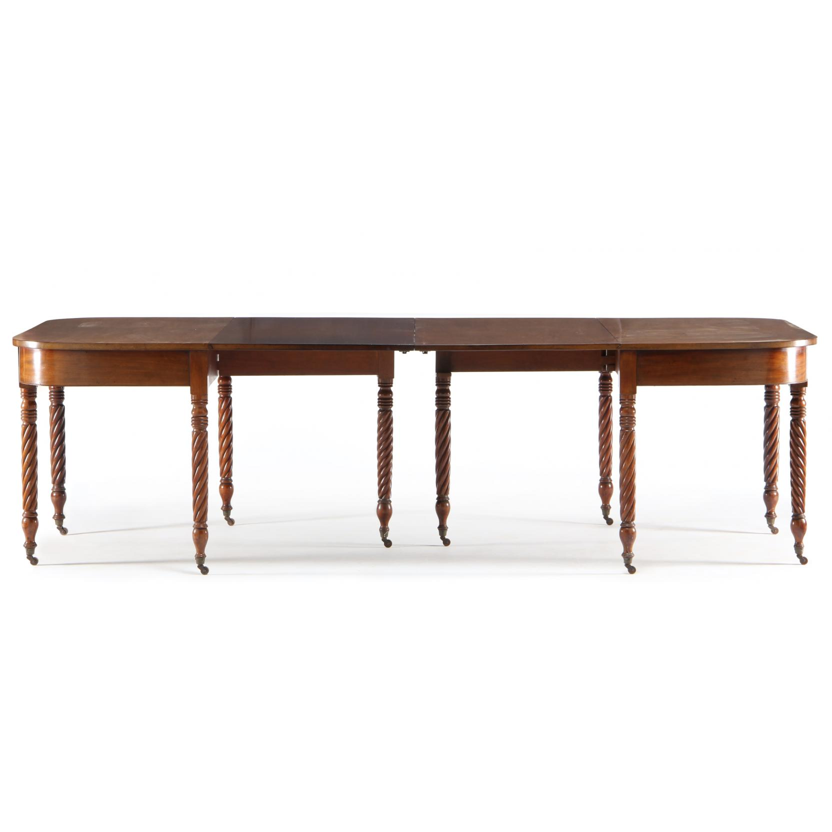 Virginia Two Part Banquet Table circa 1825,