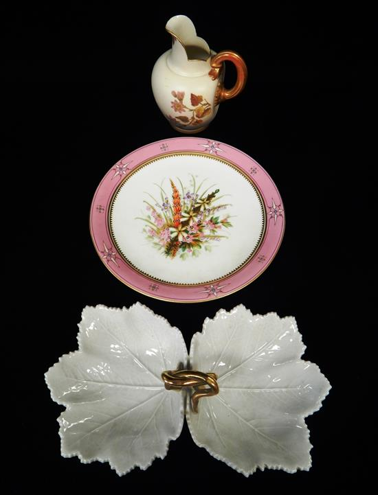 19th/20th C. porcelain, three pieces: RPM
