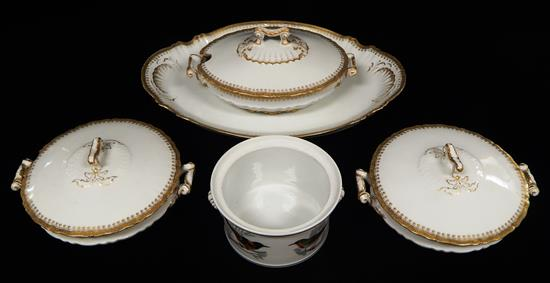 French porcelain servingware including Limoges,