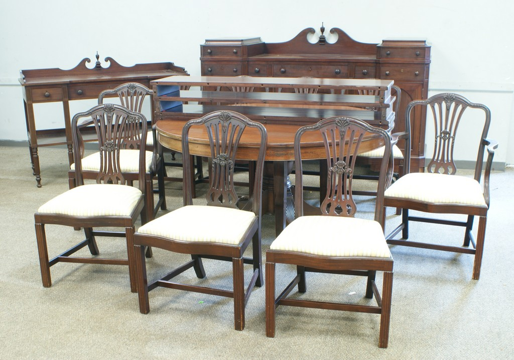 12-Piece mahogany Federal style dining room