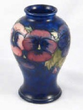 Price Guide For A Moorcroft Pale Blue Ground Baluster Vasedecorated