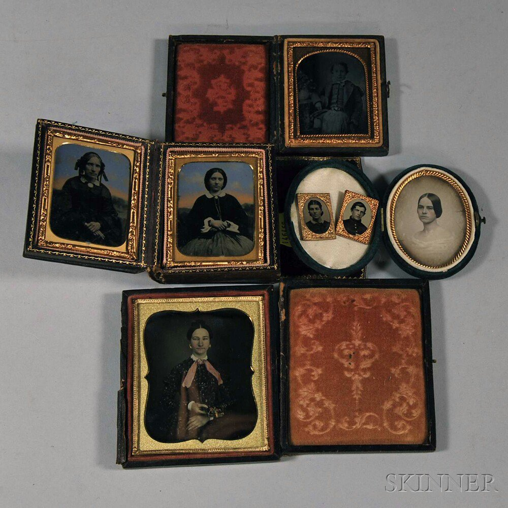 Four Cases with Nine Photographic Portraits,