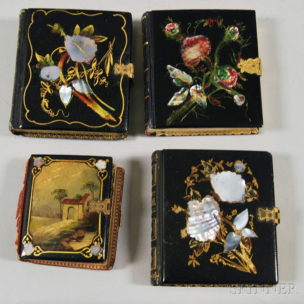 Seven Daguerreotype Portraits in Four Inlaid