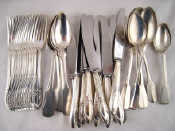 A quantity of continental silver flatware