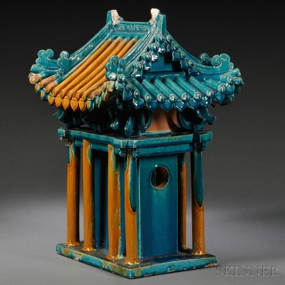 Glazed Model of a Burial Shrine, China, possibly