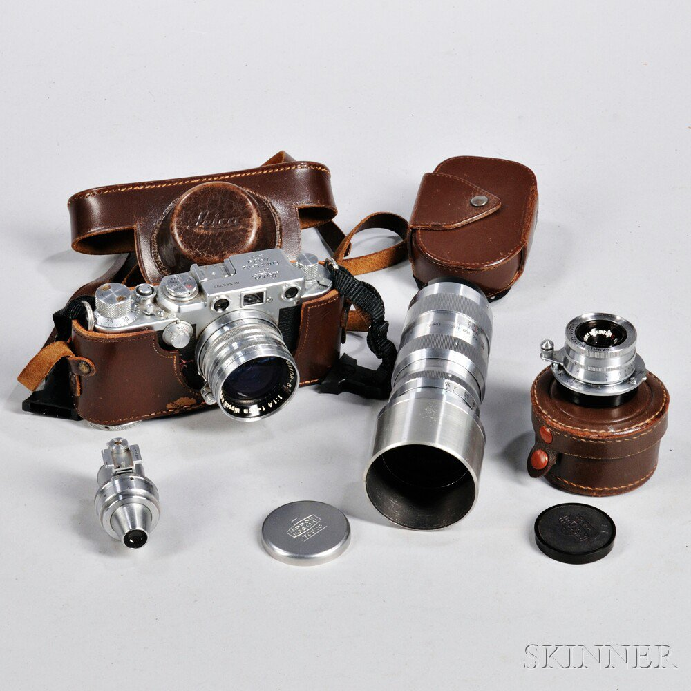 Price guide for Leica IIIF with Three Nikon Lenses, Germany