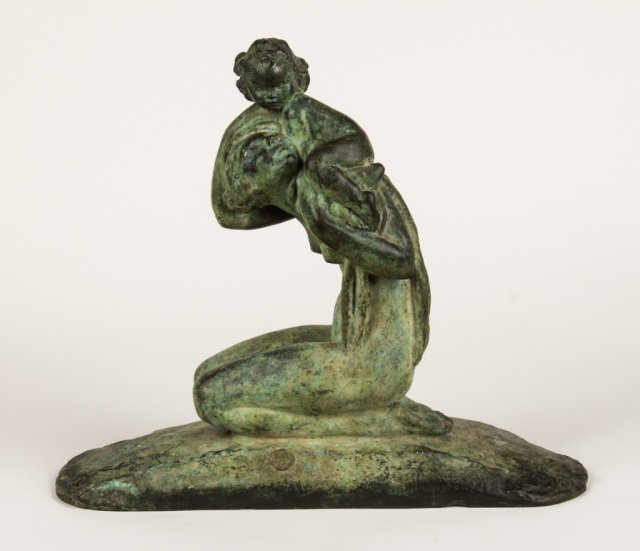 Amadeo Genarelli.  Mother and Child, bronze circa