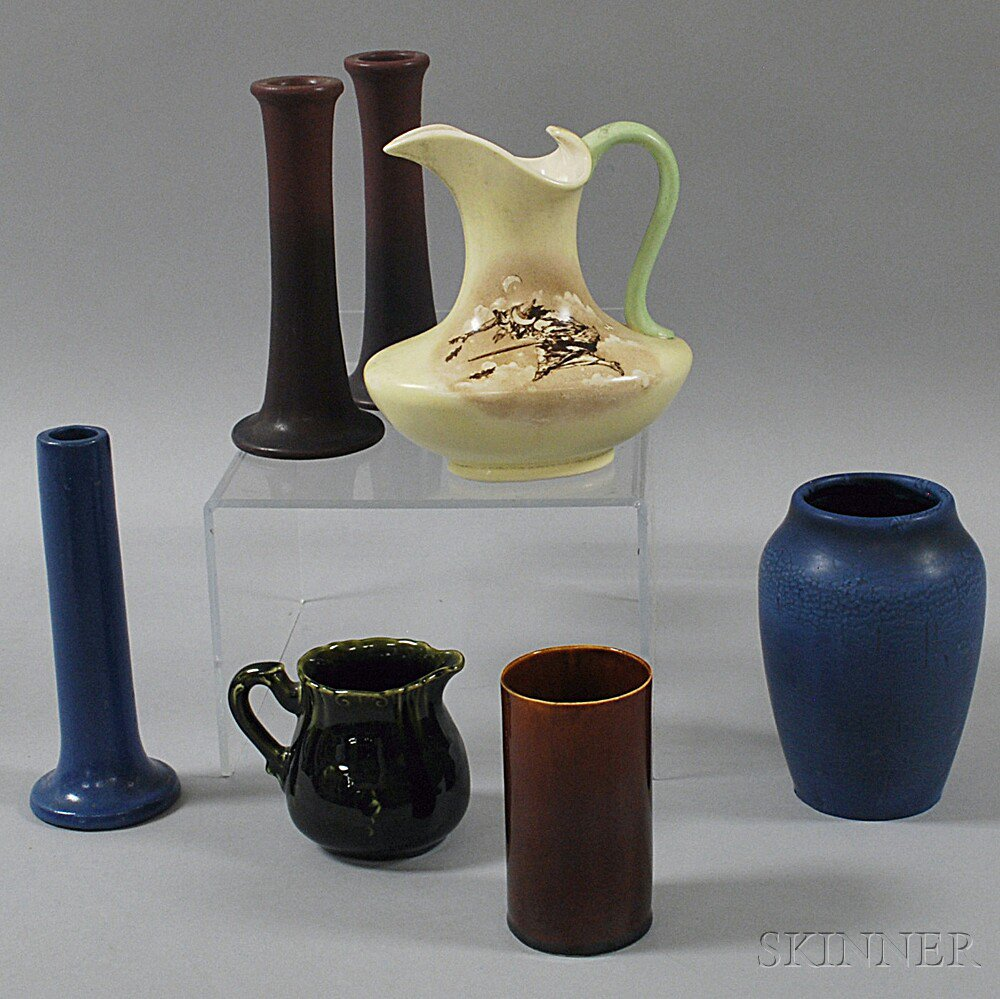 Seven Pieces of American Art Pottery, 20th