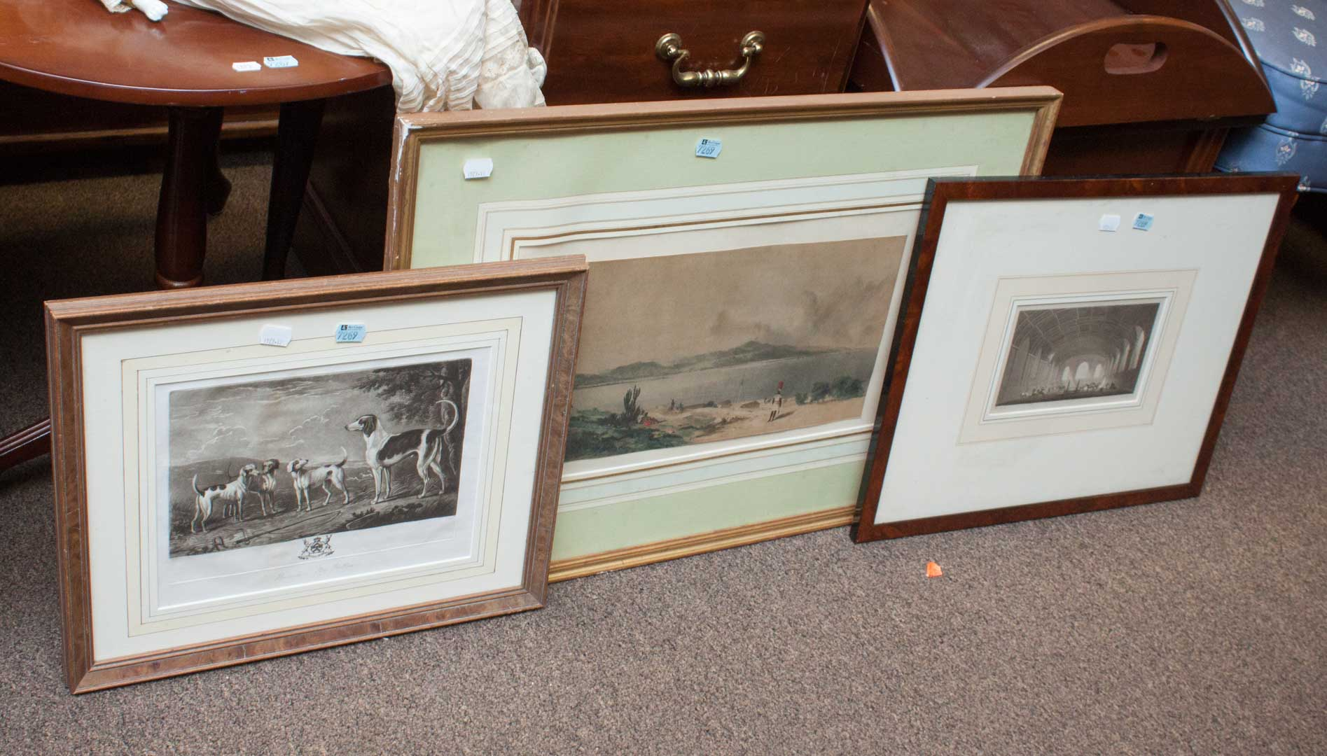 Three framed English prints