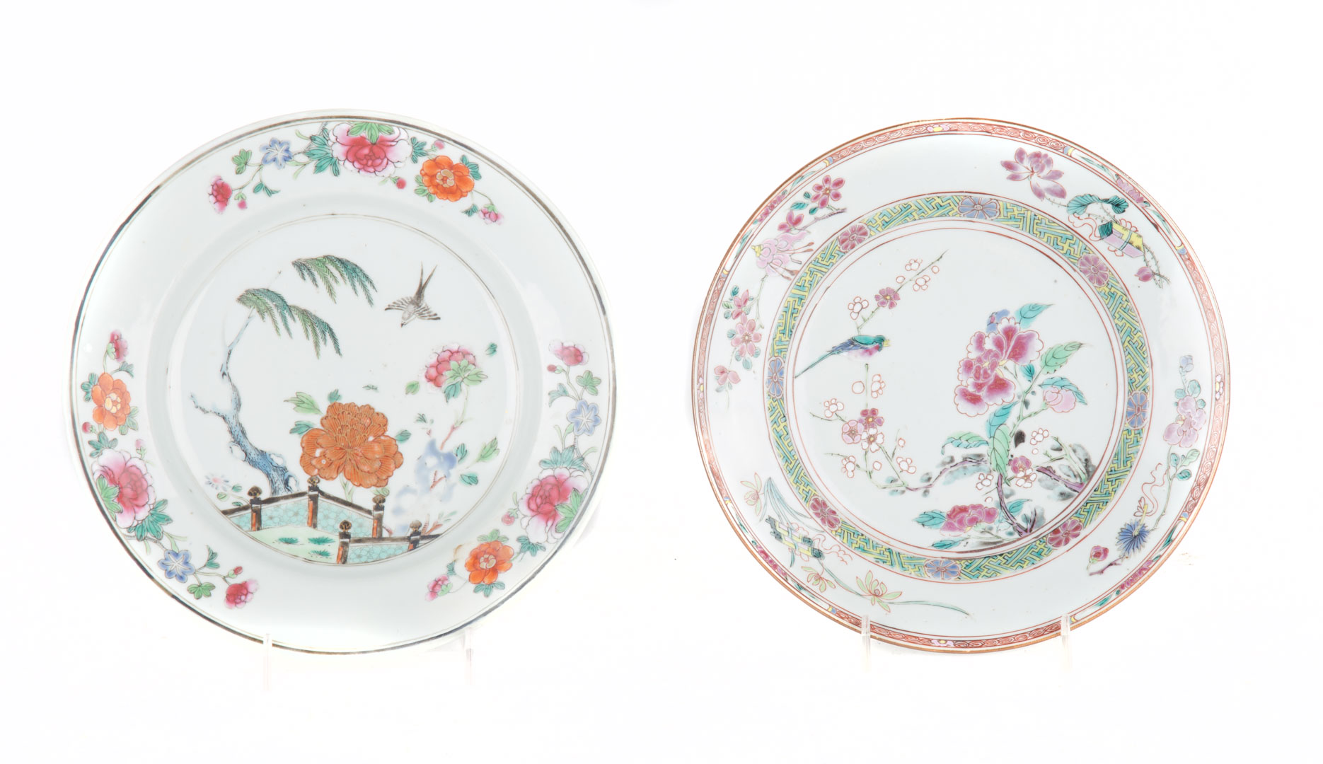 Two Chinese Export Famille Rose plates