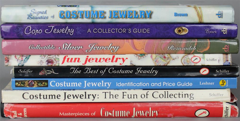 EIGHT REFERENCE BOOKS ON COSTUME JEWELRY