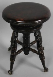 Enjoyable Price Guide For An Antique Piano Stool On Ball And Claw Feet Ibusinesslaw Wood Chair Design Ideas Ibusinesslaworg