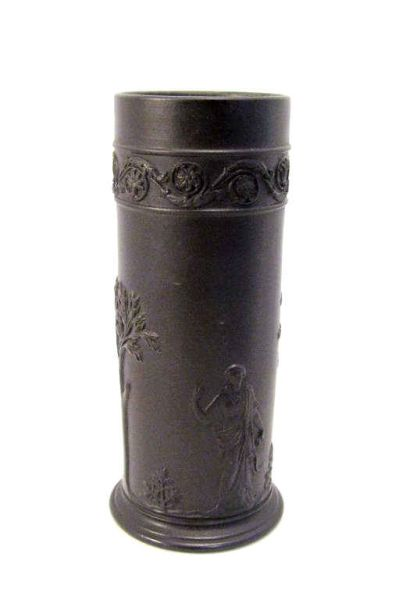 Price Guide For Wedgwood Black Basalt Cylinder Vase Black