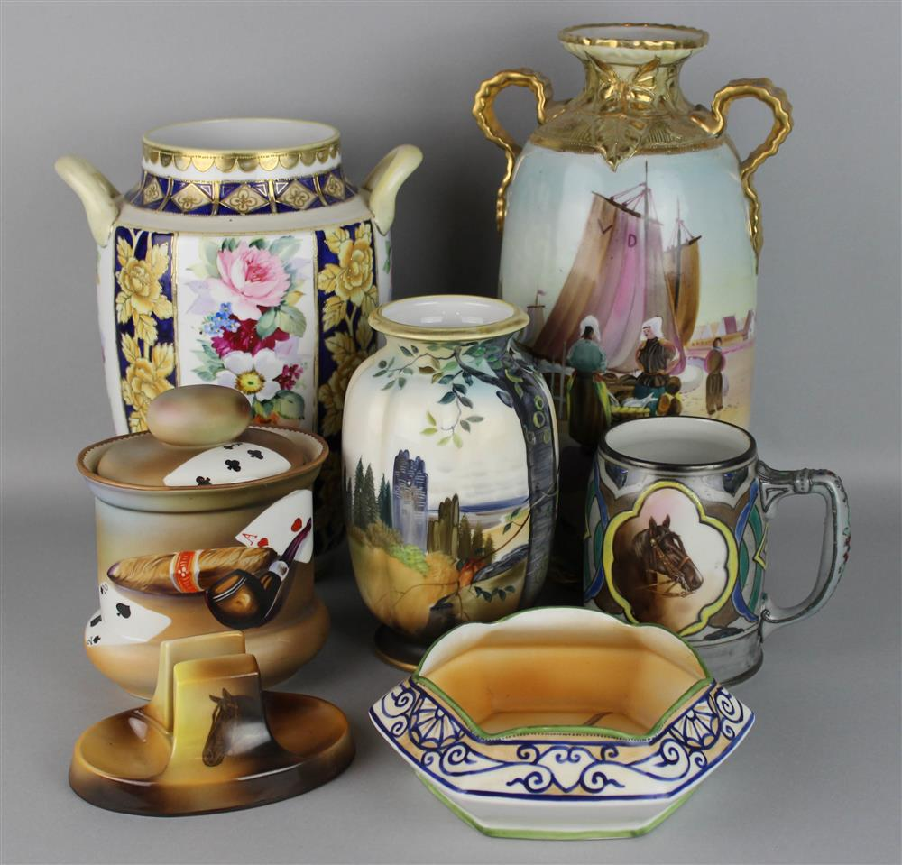 Price guide for nippon porcelain group including a humidor nippon porcelain group including a humidor the humidor painted with a cigar pipe and playing cards h 65 in along with six other items to include reviewsmspy