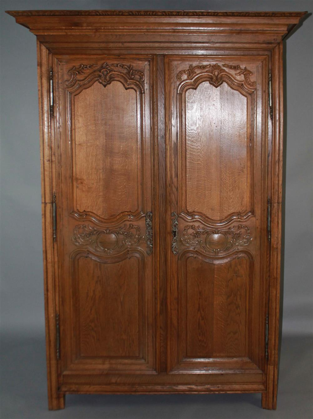 19TH C. FRENCH PROVINCIAL CARVED WALNUT ARMOIRE