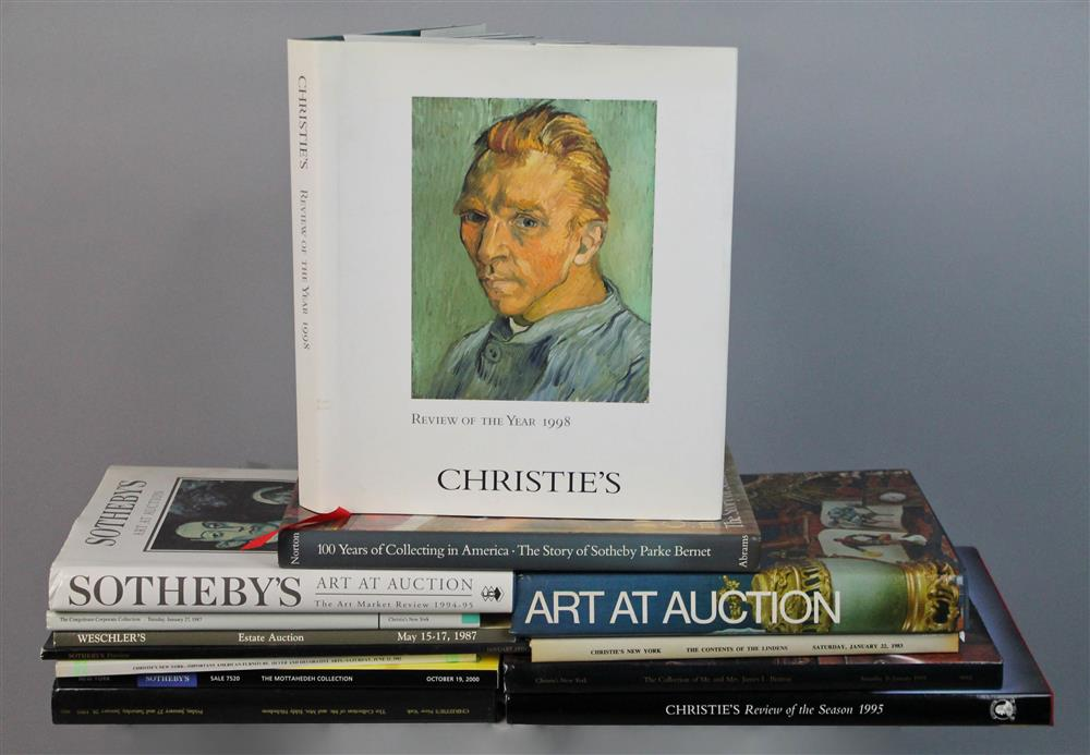 COLLECTION OF AUCTION HOUSE BOOKS, ART BOOKS,