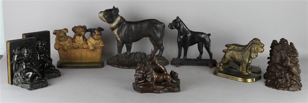 ASSORTED COLLECTION OF METAL ANIMAL AND FIGURAL