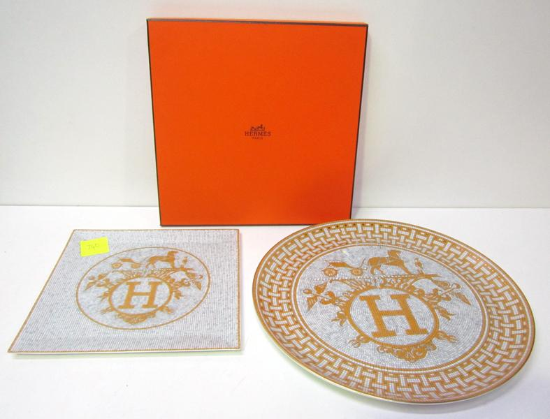 Price guide for TWO HERMES 'MOSAIQUE 24' PLATES  TWO