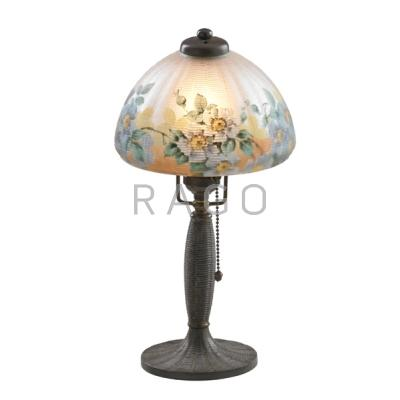 HANDEL; Boudoir lamp with reverse-painted