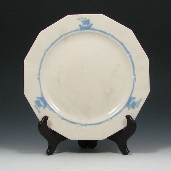 Rookwood Blue Ship Dinnerware Plate