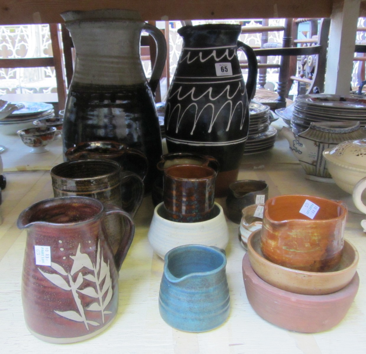 A quantity of contemporary studio pottery,