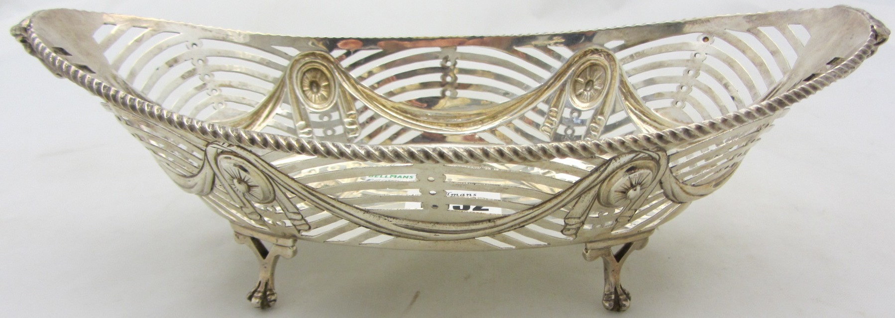 A late Victorian Scottish silver boat shaped