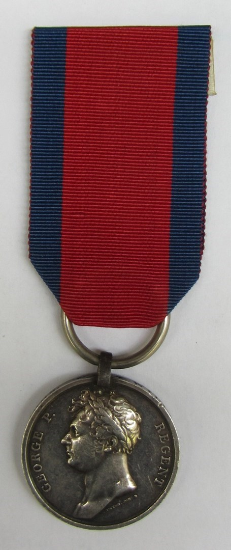 THE WATERLOO MEDAL. the first specific British