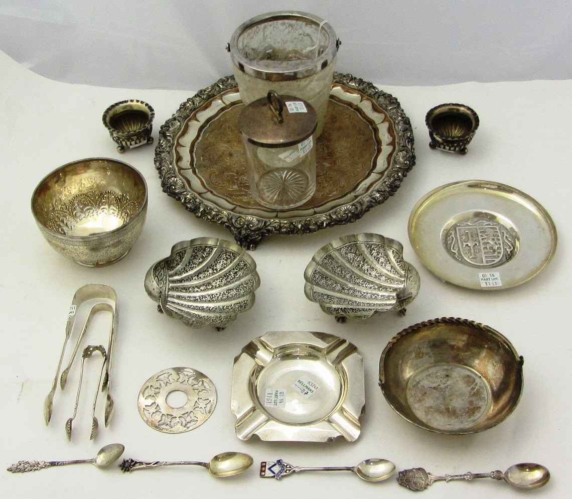 Silver and silver mounted wares, comprising: