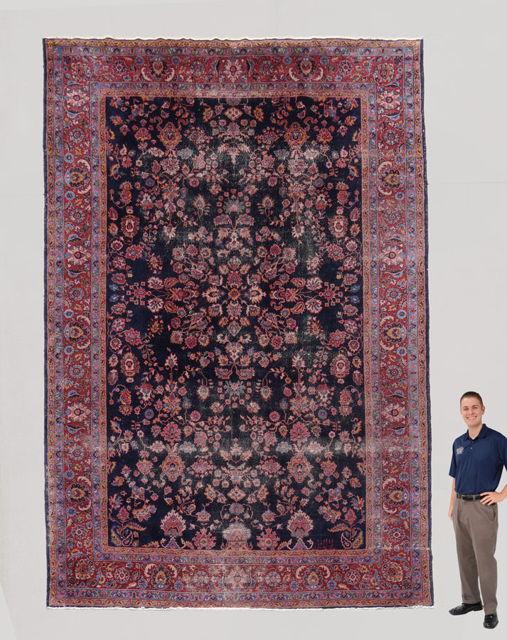 ANTIQUE PERSIAN PALACE SIZE HAND KNOTTED