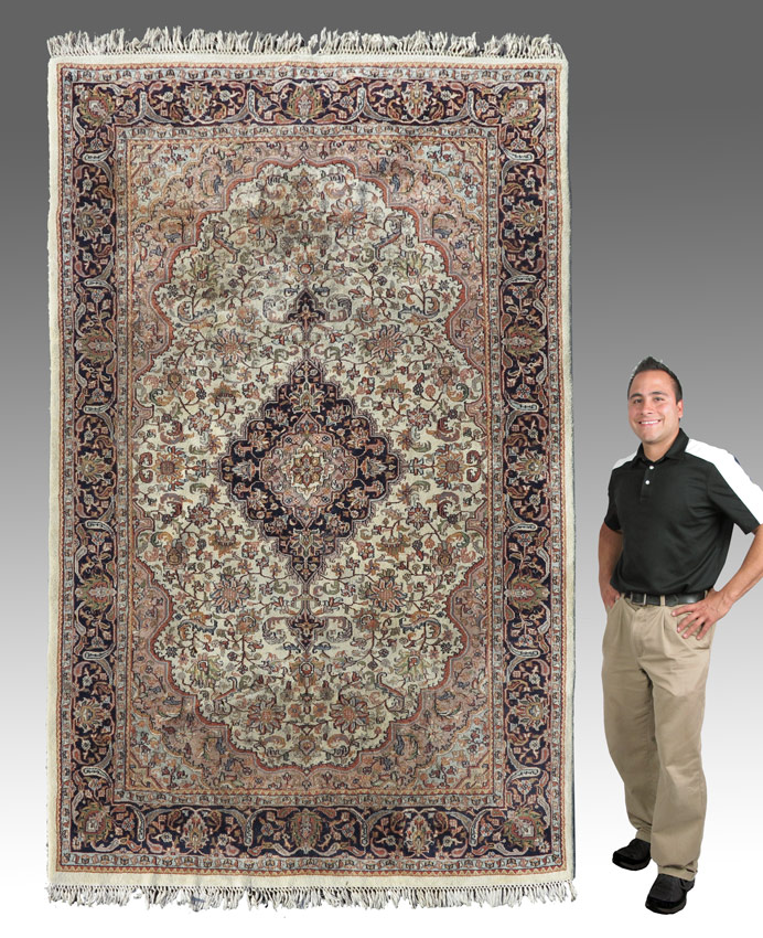 MODERN INDO-PERSIAN HAND KNOTTED WOOL RUG,