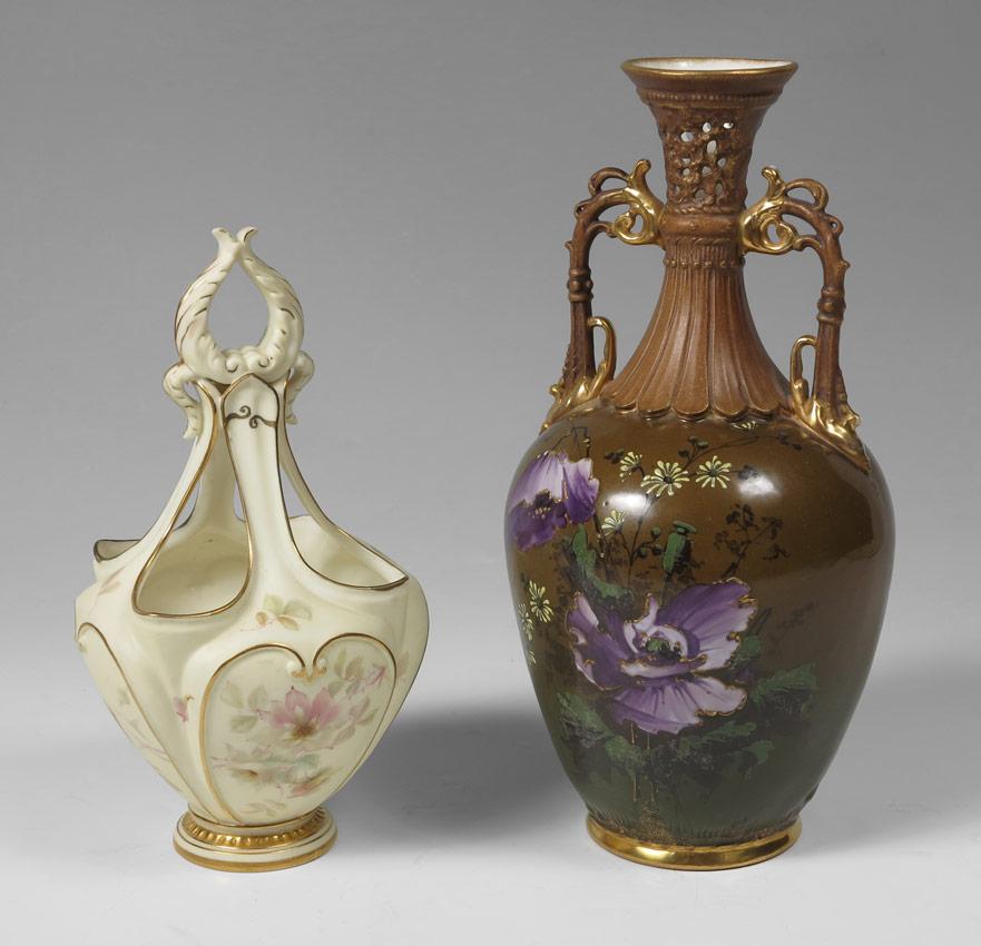 Price Guide For Worcester Austrian Vases 1 Worcester