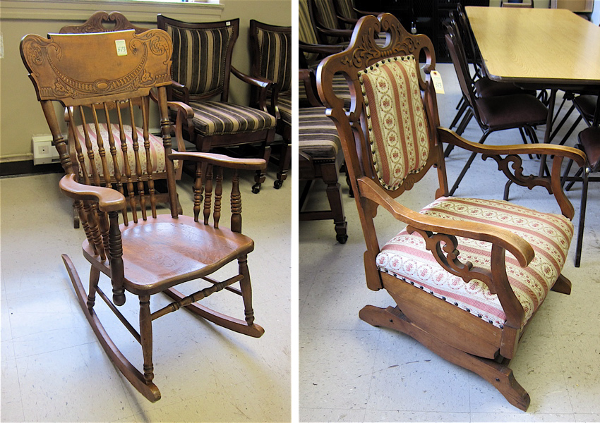 Price Guide For Two American Antique Rocking Chairs Press