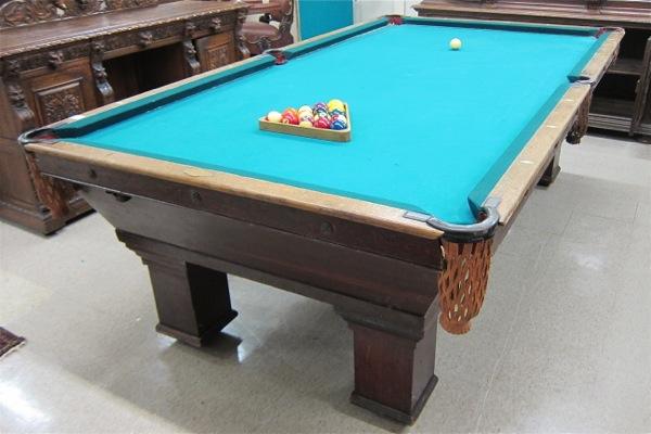 Price Guide For ANTIQUE BRUNSWICK OAK POOL TABLE The Brunswick - Brunswick oak pool table