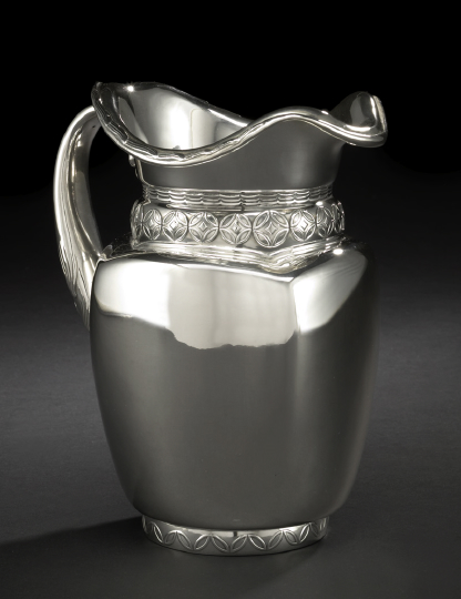 American Sterling Silver Water Pitcher,
