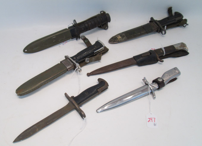 Price guide for SIX COLLECTIBLE BAYONETS including U S: M4