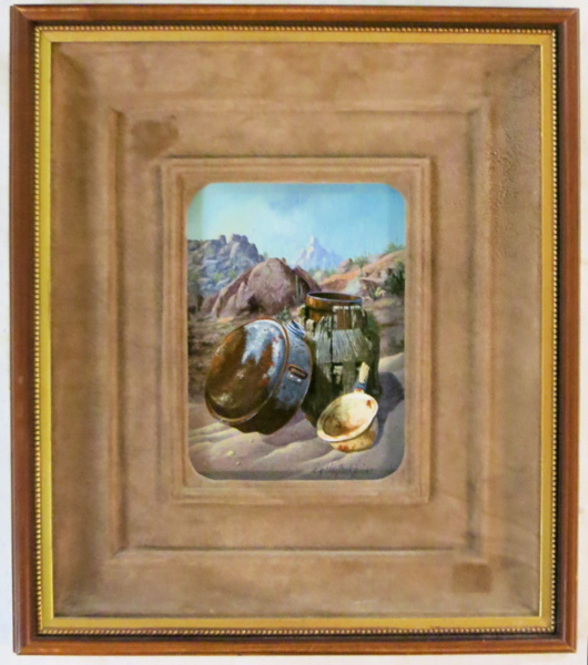 CHARLES G BLAYLOCK OIL ON BOARD (Illinois/Arizona,