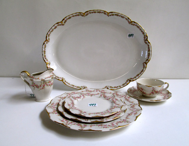 ASSEMBLED CHINA SET, thirty-nine pieces including