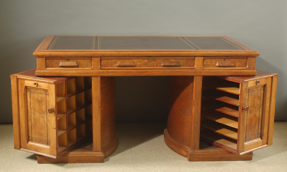 VICTORIAN WOOTON ROTARY OFFICE DESK, The