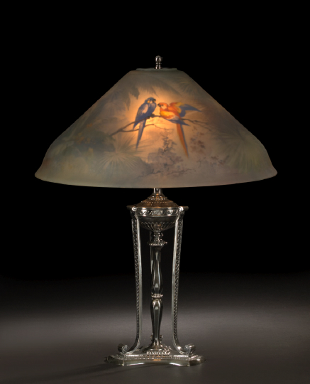 Stylish Pairpoint Silverplate Table Lamp