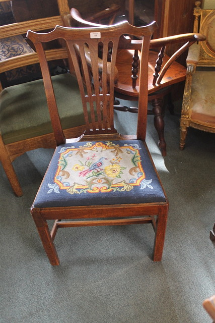 A 19TH CENTURY MAHOGANY SINGLE CHAIR with