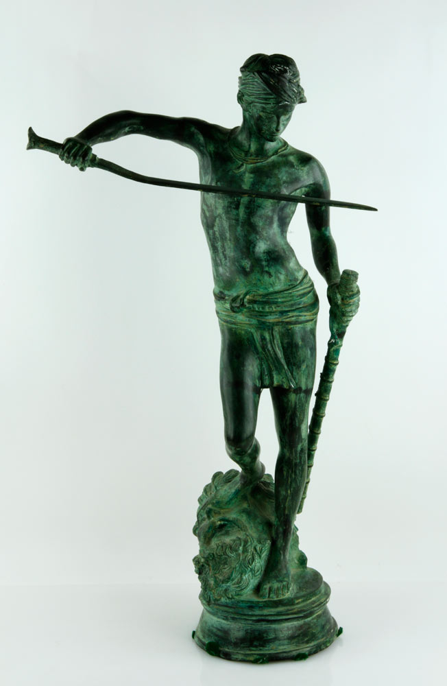 1082 - 20th C, David and Goliath, Bronze