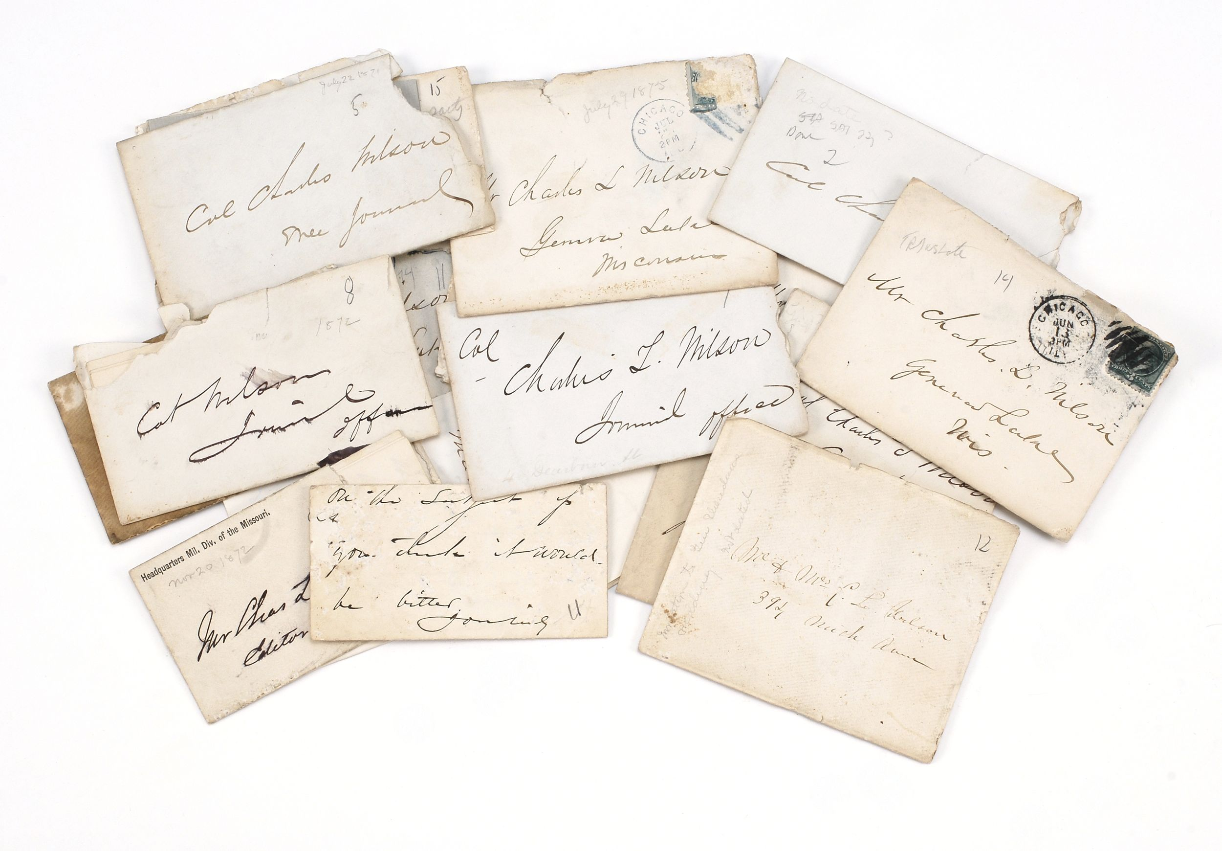 COLLECTION OF EIGHTEEN LETTERS WRITTEN BY