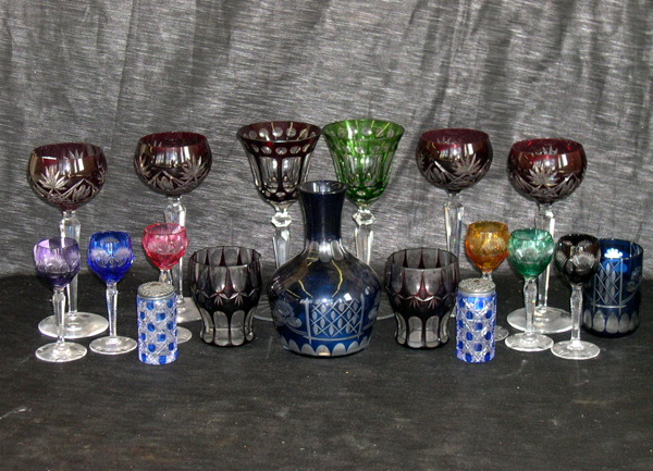 Eighteen-Piece Collection of Glassware,
