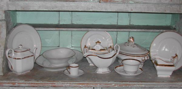 Fifty-One-Piece Collection of Porcelain Dinnerware,