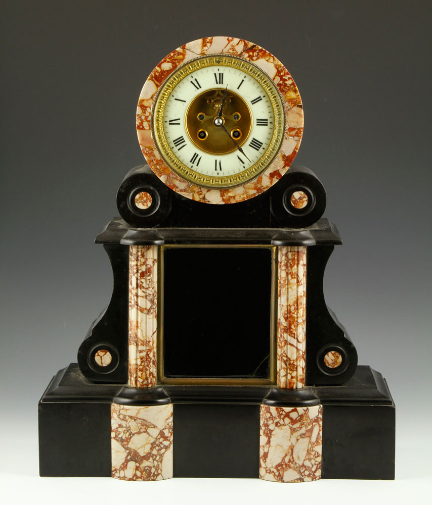 7255 - 19th C. French Slate Mantle Clock