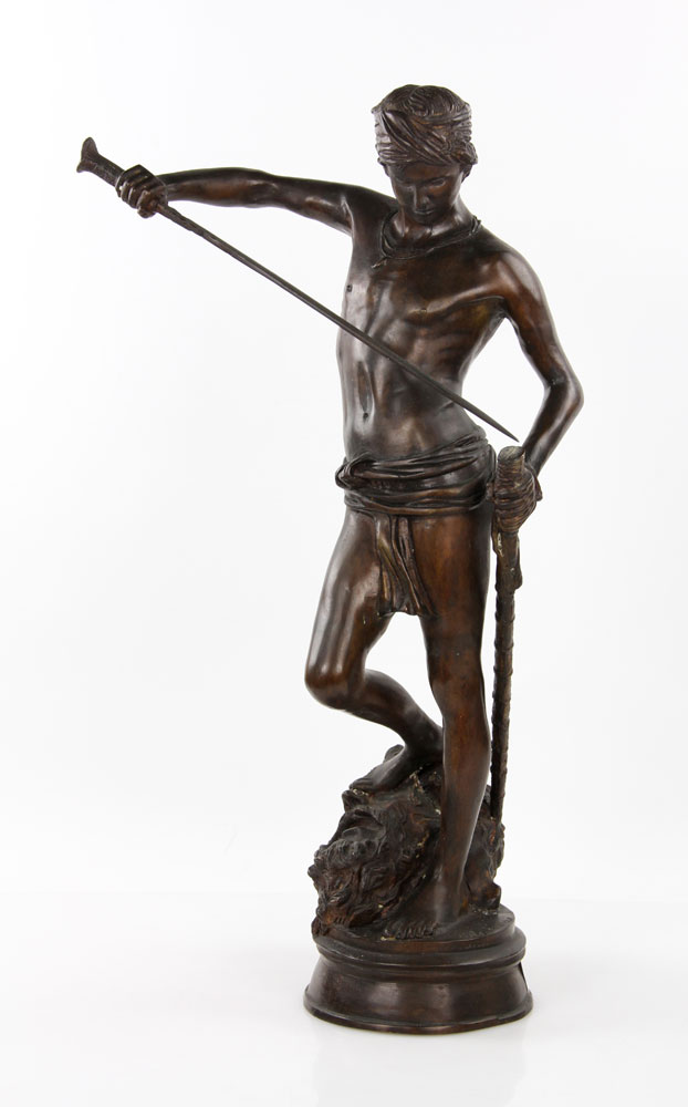 1252 - Mercie, David with the Head of Goliath,