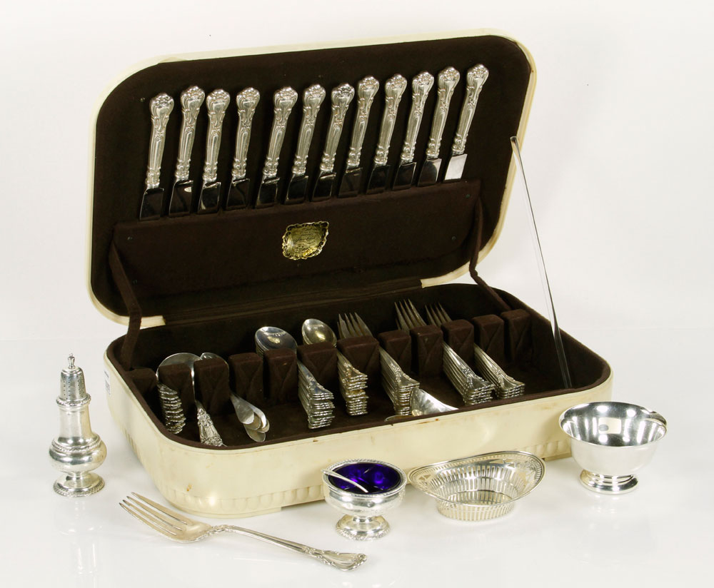 3079 - Lot of Silver, Sterling and Silverplate